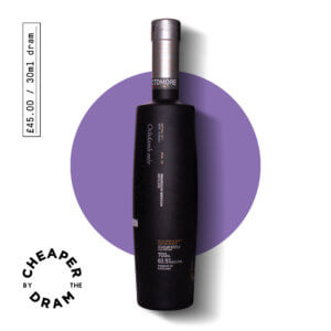 A bottle of CBTD NO.01 Octomore edition 01.1