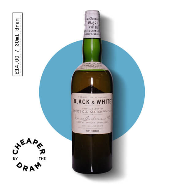 A bottle of CBTD NO.07 Black and White 1950s spring closure