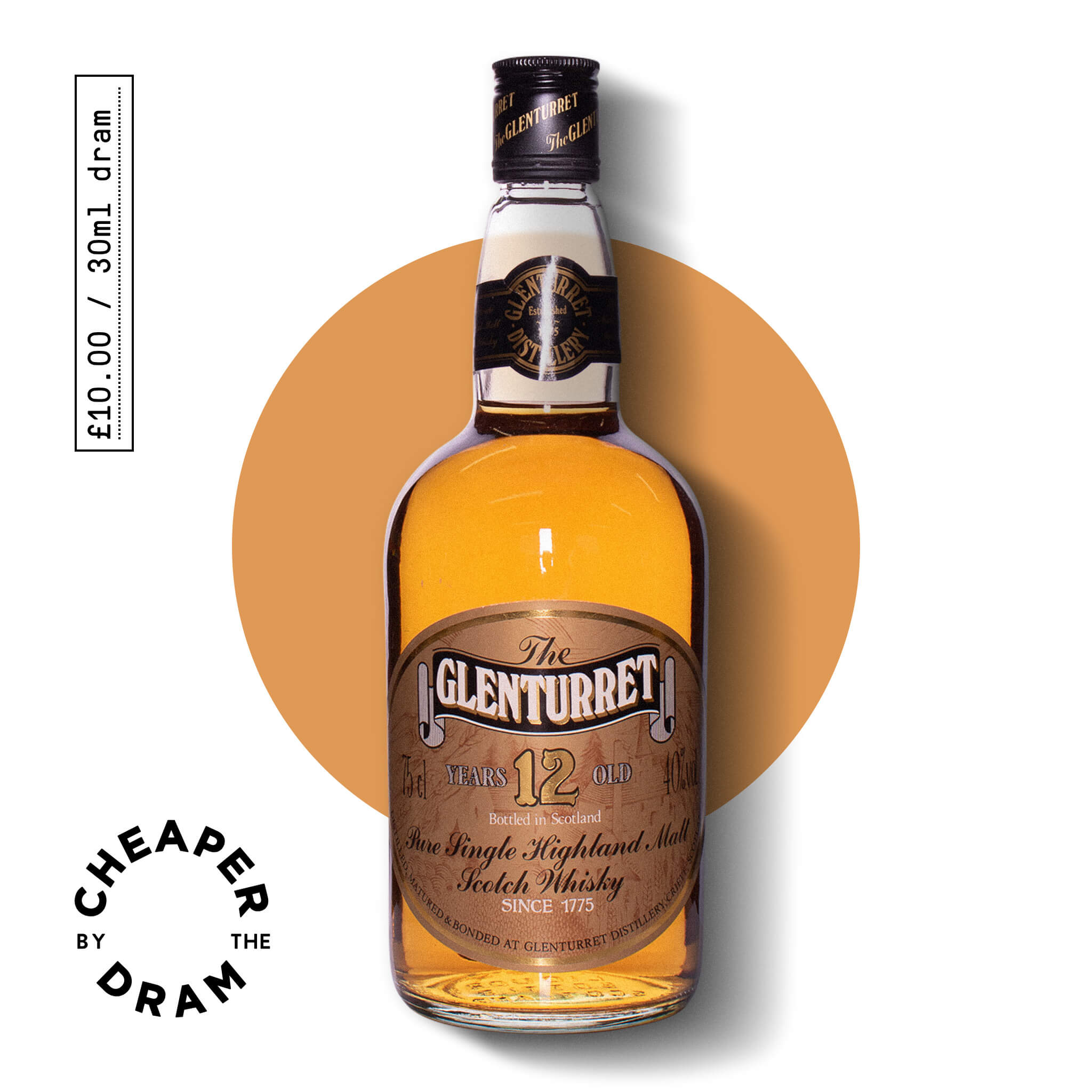 A bottle of CBTD NO.10 Glenturret 12 year old 1980s