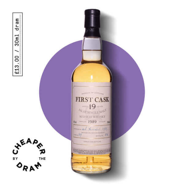 A bottle of CBTD NO.11 Bruichladdich 1989 19 year old bottled by First Cask
