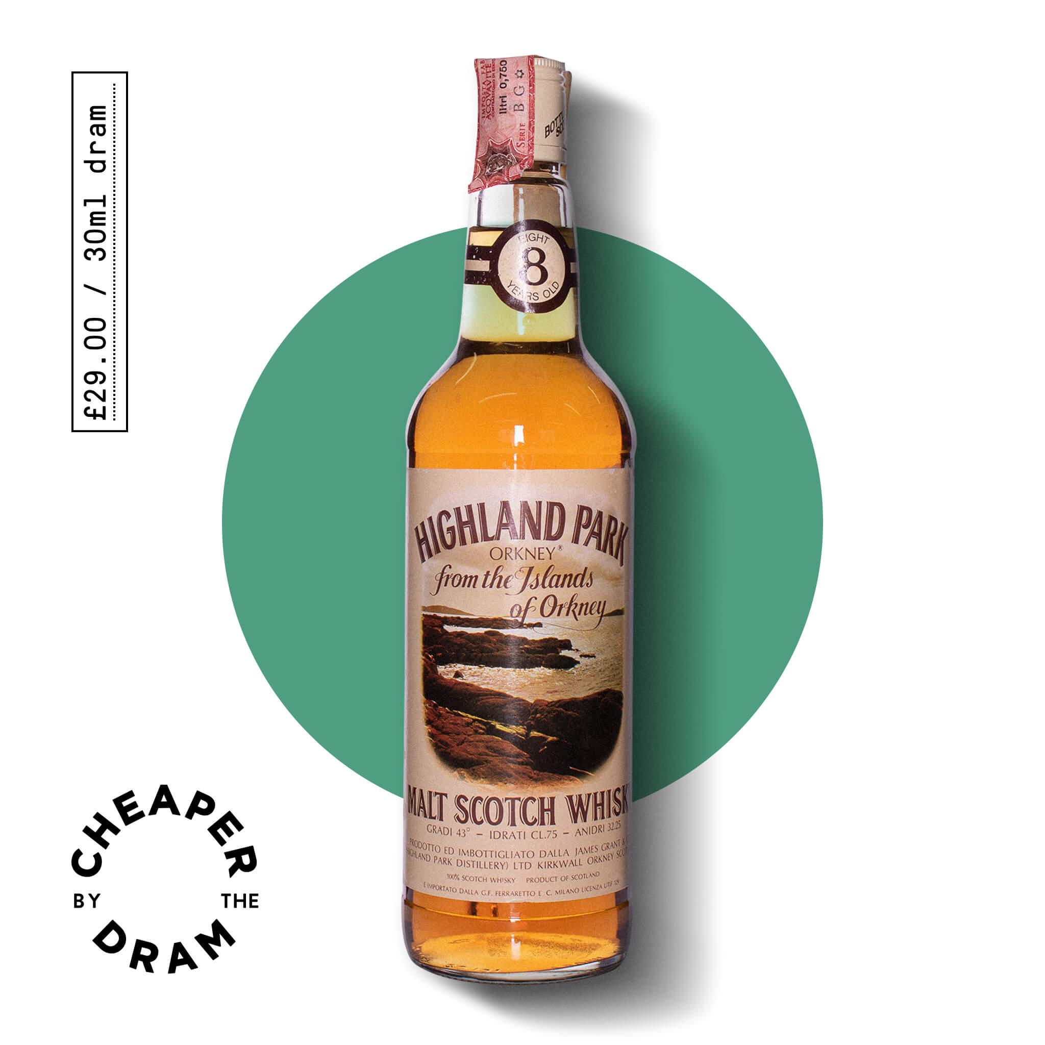 A bottle of CBTD NO.23 Highland Park 8 Year old 1970s
